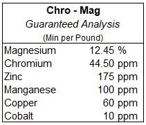Chro-Mag Guaranteed Analysis